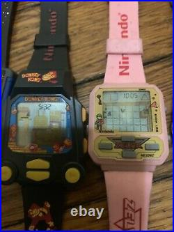 15 Mint Working Nintendo Nelsonic game Watch Zelda, Mario, Donkey Kong, Qbert, Car