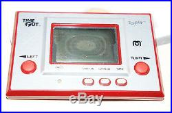 1980s MEGO CORP TOSS UP GAME & WATCH NINTENDO ELECTRONIC HANDHELD TIME OUT BALL