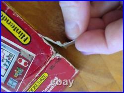 1983 Rare POCKETSIZE NINTENDO Game and Watch Mario Cement Factory
