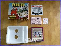 1983 Super Rare POCKETSIZE NINTENDO Game and Watch MARIO BROS- boxed