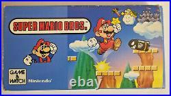 1988 Nintendo Super Mario Bros. Game & Watch #ym-105 Unused Works Perfect