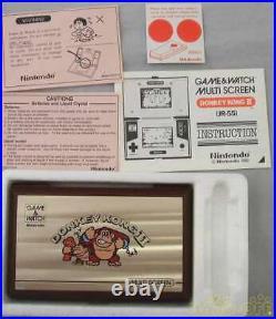 BoxedNintendo Game & Watch Donkey Kong II 2 Multi Screen Japan Import