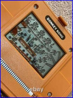 Boxed LCD DONKEY KONG Game Watch DK-52 Handheld Nintendo 1982 Japan WithT