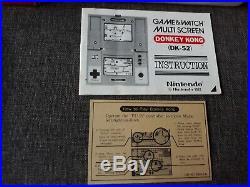 Donkey Kong Nintendo Game & Watch Pal Dk-52 Game&watch And Dk 52 Dk52 Donky 1982