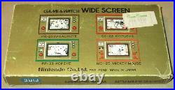 Fire Game and Watch Nintendo FR-27 Original Box and Manual