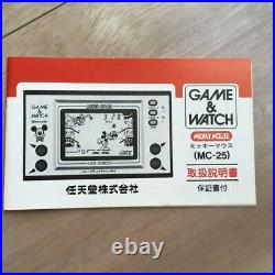 Game & Watch Mickey Mouse Nintendo Donald Japan Screen 1981 And Retro Wide cz164