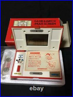 Game Watch Mickey and Donald Multi Screen DM-53 LCD Game with maxell LR44 RARE NEW