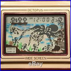 Game & Watch Octopus Nintendo 1981 Oc 22 Wide Screen Japan Box And Working
