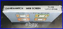 Game & Watch Wide Screen Turtle Bridge TL-28 Nintendo In Original Box 1982