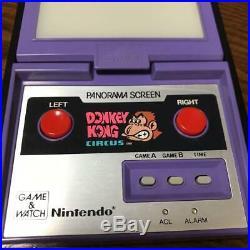 Game and Watch Donkey Kong Circus Panorama Screen NINTENDO Purple