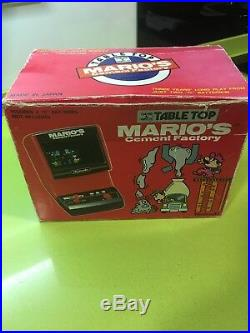 Game & watch TableTop Mario Cement's Factory, Lsi Game, Nintendo, Tomy, Bandai, Casio
