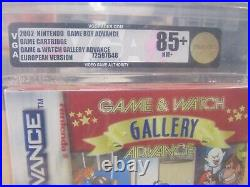 Gameboy Advance, Game & Watch Gallery Red Strip Vga 85+ Nm+ Gold Ovp