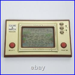 LCD PARACHUTE Wide Screen Game Watch PR-21 Boxed Tested Nintendo JAPAN 0109