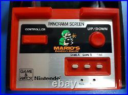 Mario's Bombs Away Nintendo Game & Watch Panorama Screen TB-94 jeu LCD game