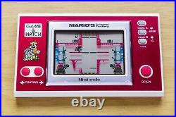 Mario's Cement Factory Nintendo Game & Watch with Original Box & Instructions