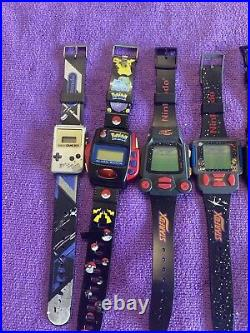 Massive (12)Watch Collection nintendo Mario Pokemon Gameboy RARE 80s 90s