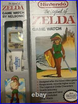 Mint In Box Working With Battery Nintendo Rare White Zelda Watch Game By Nelsonic