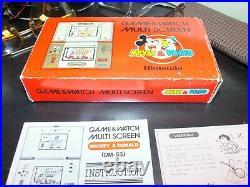 NINTENDO Donald & Mickey Game & Watch DM-53 Multi-screen 1982 mit OVP & Handbuch