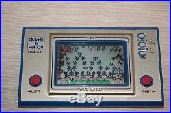 NINTENDO FIRE GAME & WATCH FR-27 Wide Screen 1981 EUC Original Box JAPAN WORKS