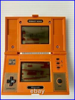 NINTENDO GAME AND & WATCH Donkey Kong TESTED Complete withBox With battery JAPAN