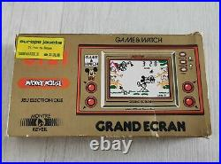 NINTENDO GAME AND WATCH MICKEY MOUSE JI 21 boite insert notice fonctionnel 1981