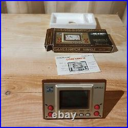 NINTENDO GAME AND & WATCH Manhole with BOX & Manual 1981 Boxed