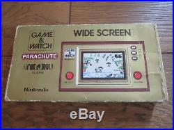NINTENDO GAME AND & WATCH Parachute 1981 Complete with BOX Manual & Bag