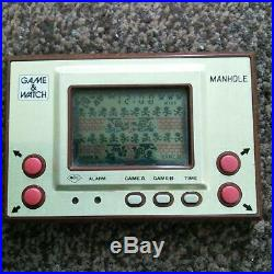 NINTENDO GAME & WATCH Manhole MH-06 GAME AND WATCH Retro Game device Used Tested