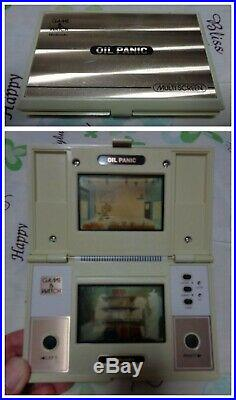 NINTENDO GAME & WATCH OIL PANIC GAME AND WATCH Retro Game device Used Tested