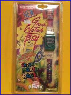 NINTENDO Game Watch Boy Super Mario Race Green (1995 by Mani)