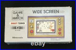 NINTENDO Game & Watch Wide Screen SNOOPY TENNISSP-301982Complete with BoxWorks
