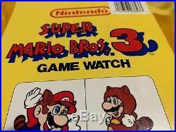NOS Nelsonic Mint In Box Nintendo WHITE Super Mario Bros. 3 Game Watch