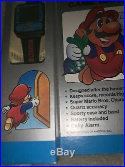 Nelsonic New Old Stock Nintendo Super Mario Bros Watch Game. Mint Box and Watch