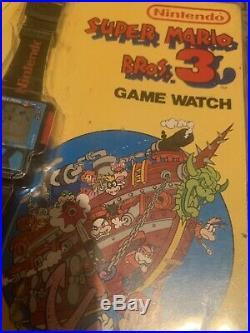 Nelsonic Nintendo Rare Super Mario Bros 3 Game Watch Mint With Original Card