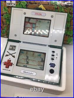 Nintendo 1989 Zelda Multi Screen Game And Watch Boxed Manual