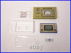 Nintendo Fire Game & Watch FR-27 with Box and Vintage Maxell LR43 Battery Package