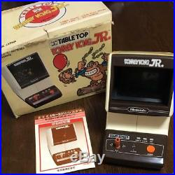Nintendo GAME and WATCH DONKEY KONG JR. Table Top Vintage Rare Working WithBox