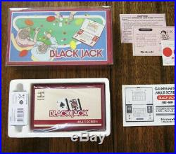 Nintendo Game & Watch 1985 Black Jack BJ-60 Multiscreen in Mint Condition