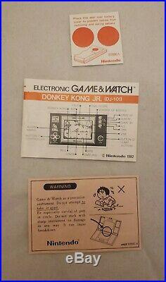 Nintendo Game & Watch Donkey Kong Jr. DJ-101 VINTAGE 1982 WORKS with BOX