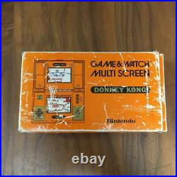 Nintendo Game & Watch Donkey Kong Multi Screen retro console With Box Rare Used JP