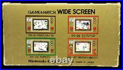 Nintendo Game & Watch Fire Widescreen FR-27 1981 Boxed Working