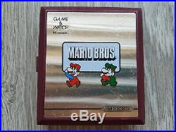 Nintendo Game & Watch Game IN BOX MARIO BROS. INCLUDES 2 NEW BATTERIES