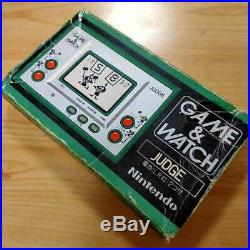 Nintendo Game Watch Judge Green ver. Retro game Tested With Box and manual Rare