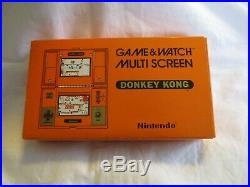 Nintendo Game & Watch MULTI SCREEN DONKEY KONG DK-52 Boxed Great condition Japan