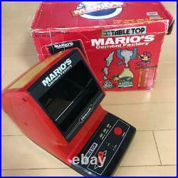 Nintendo Game Watch Mario's Cement Factory Rare