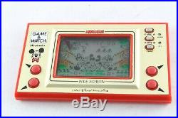Nintendo Game & Watch Mickey Mouse Tested MC-25 Wide Screen Boxed