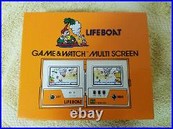 Nintendo Game & Watch Multi Screen Life Boat TC-58 BRAND NEW NOS Extremely RARE