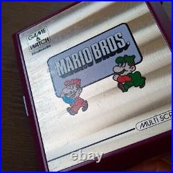Nintendo Game & Watch Multi Screen Mario Bros. Retro Games RARE Vintage 1983