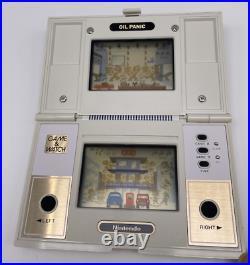 Nintendo Game & Watch Multi Screen Pocketsize Oil Panic OP-51 1982 RARE CIB