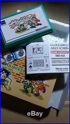 Nintendo Game & Watch Multiscreen Bomb Sweeper Bd-62 1987 +gift (+regalo)